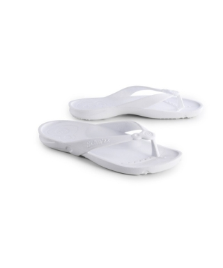 Tongs schuzz piscine, thalasso, thermes blanc